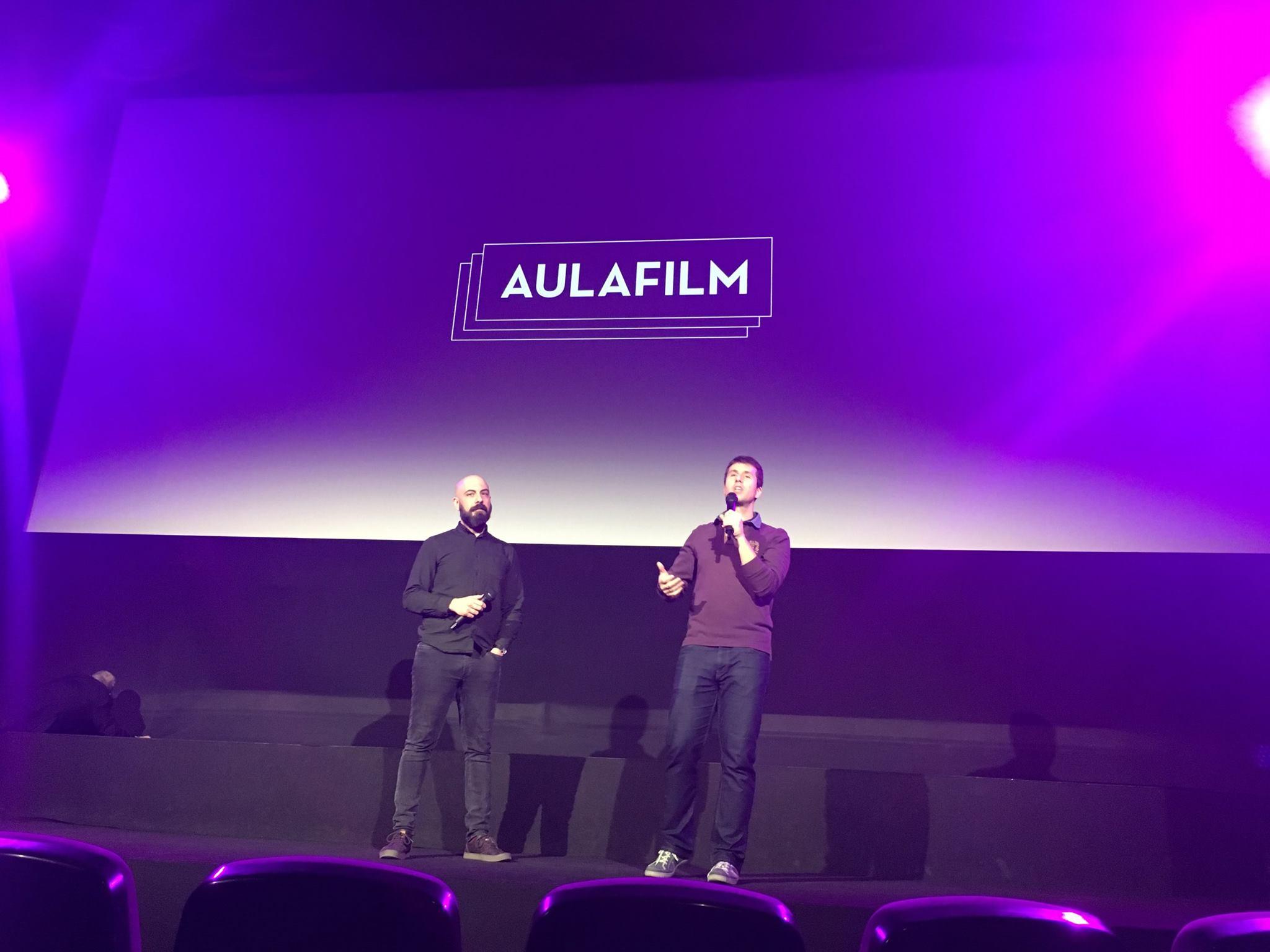 Presentación del pase de Cinema Paradiso en el Cine de la Prensa organizado por la Escuela IDEO en Madrid en 2017